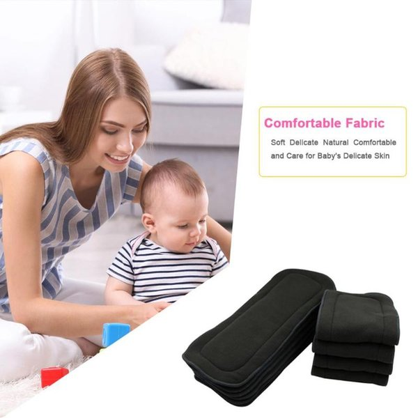 1PC Water Absorption Bamboo Fiber Baby Nappies Reusable Washable Inserts Diaper Cover Wrap Cloth for Baby 9-14 kg