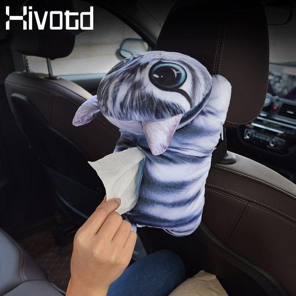 Cartoon Tissue Box Car Auto Armrest Box Animal Paper Napkin Cover Holder