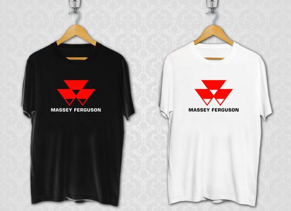 Massey Ferguson Tractors Company Logo Men/'s Black T-Shirt Size S M L XL XXL XXXL