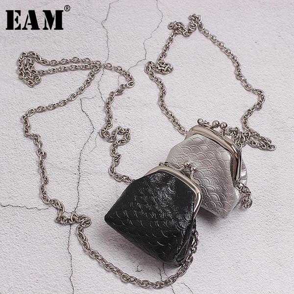 [EAM] Женщины Мини-сумка цепи Split Joint длинное ожерелье Новый Темперамент Мода Tide Все матча весна осень 2019 19А-A351