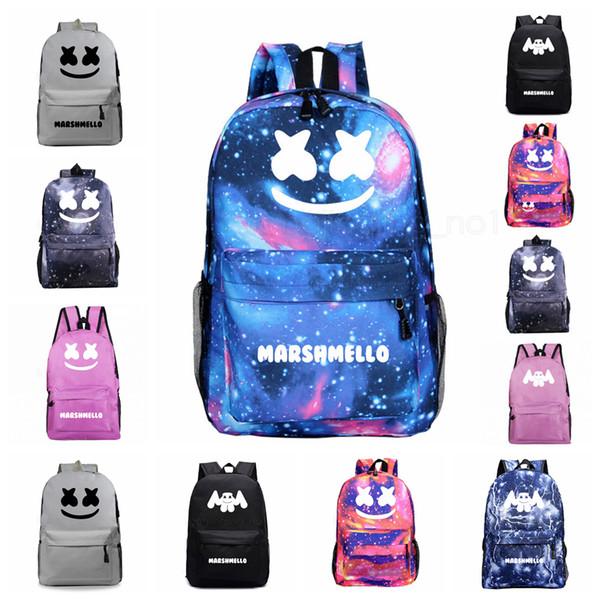 40Styles DJ Marshmello luminosi Zaini sacchetti di scuola per Borse di stoccaggio delle ragazze dei ragazzi spalla Zaino Laptop corsa esterna Zaini FFA2932