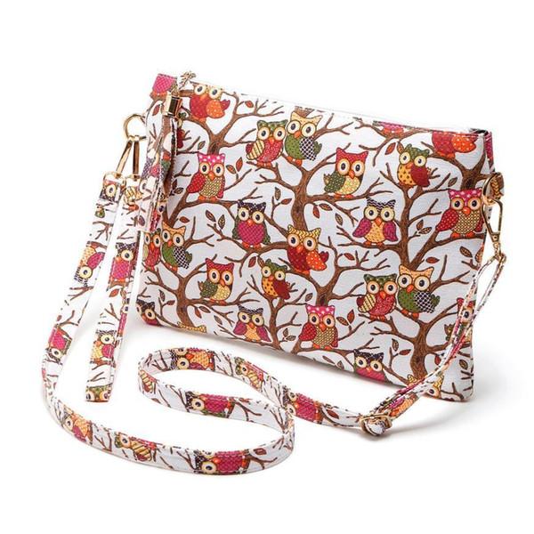 Preiswerter Sleeper # 5001 New Printing Owl Tote Bags Frauen Schultertasche Handtaschen Briefträger Paket Freies Verschiffen