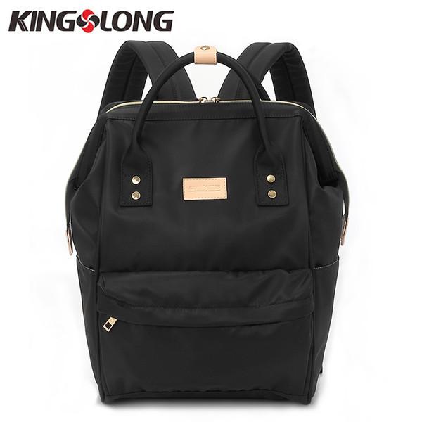Kingslong Women''s Backpack Student College Water Repellen Nylon Bag Mochila Quality Laptop Bag School Backpack Klb1453-4 Y19051405
