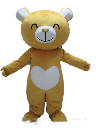 2019 Factory direct sale Good vision and good Ventilation a yellow smiling bear mascot costume for adult to wearGood vision and good Ventila