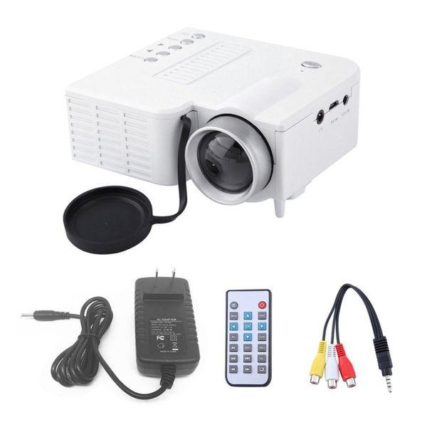 UC28A Mini Proyector LED portátil 1080P LCD Multimedia Cine Teatro USB TF HDMI AV LED Beamer Proyector para uso caer