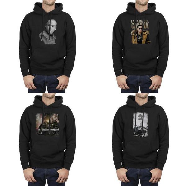 Mode Männer Cosculluela Kunst schwarz Winter Sweatshirt personalisierte Grafik Crazy Hoodies De Camino Pa 'la Cima Reloaded 2.0 Jayko La Wel