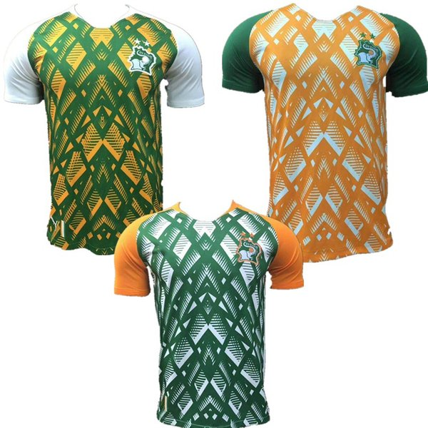 19~20 New Thiland Cote d Ivoire Soccer Jersey DROGBA KALOU GERVINHO MANDE TOURE YAYA TIOTE Cote d'Ivoire Home Away Football Shirt