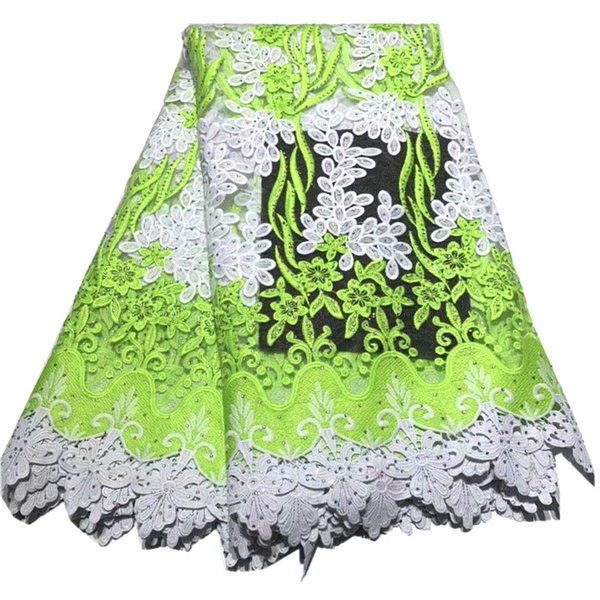 African Lace Fabric Guipure Lace Latest design French Net Laces Fabric With Stones High Quality African Swiss Voile Lace QG924