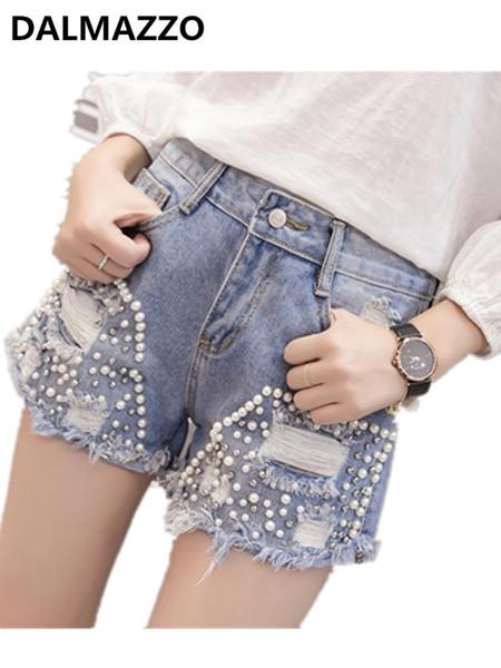 Women Runway Embroidered Flared Tassel Denim Shorts XL 2019 Newest Summer Girlfriend Pockets Sexy Hot Jeans Short Pants In Stock