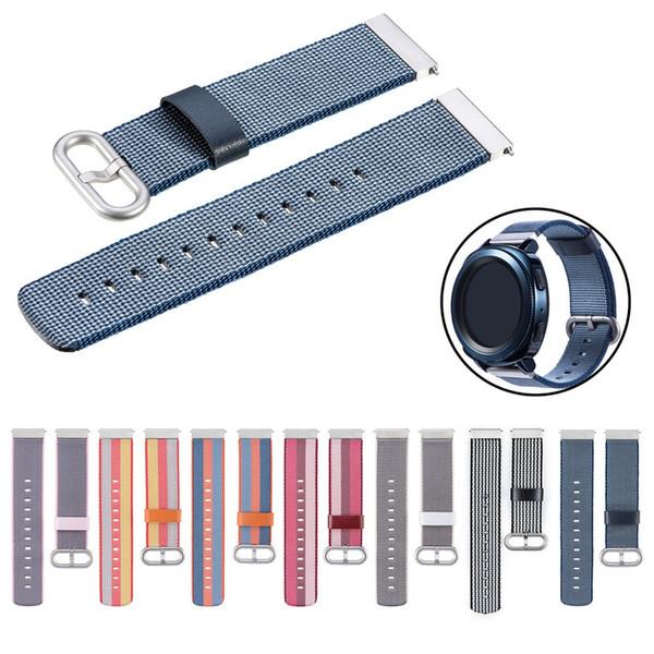 watchband clock reloj bracelet Nylon weave Band Wrist Strap 20mm For Samsung Galaxy watch 42mm/Gear Sport relogio strap montre