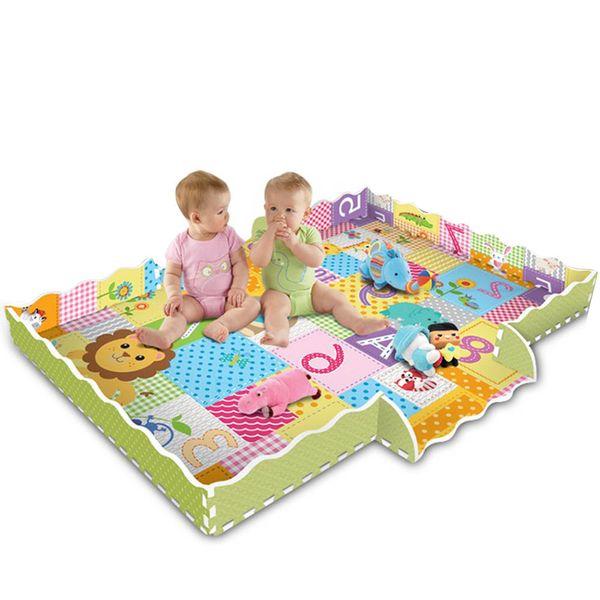 Dessin Animé Motif Animal Tapis EVA Mousse Puzzle Tapis Enfants Plancher Puzzles Tapis De Jeux Pour Enfants Bébé Safe Play Gym Crawling Mats