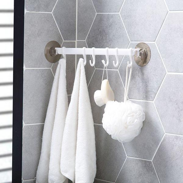 MeyJig Outils Antirouille salle de bains Organisateur Porte-serviettes crochets à clés Armoires de cuisine Organisateur Support de rangement étagère