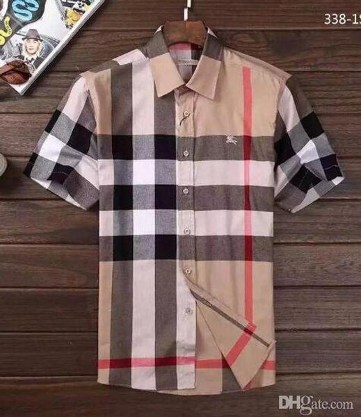 Marca para hombre de negocios camisa casual para hombre de manga larga a rayas slim fit camisa masculina social masculina camisetas nueva moda hombre camisa comprobada