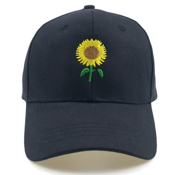 Унисекс Sun Flower Cap Вышивка Бейсболка Хлопок Регулируемая Папина Шляпа Открытый Повседневная Шапка Хип-Хоп Шляпа Snapback Sun Hat