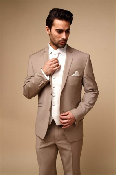 2019 Latest Coat Pant Designs Champagne Formal Dapper Custom Made Four Button Wedding Suit for Men 3 Pieces Perfume Masculino