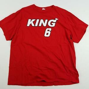 King 6 T-Shirt Men's Sz XL X-Large Red Cotton Tee Short Sleeve Delta Pro Weight