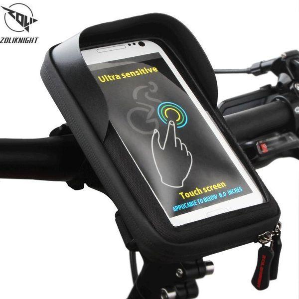 Pop Bike Frame Передняя трубка Сумка Велоспорт езда Сумка Pannier Смартфон Gps Сенсорным экраном Чехол Велосипед Аксессуары для велосипедов