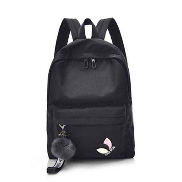Woman Shoulder Bag Embroidery Bag Travel Soft Backpack Girls College Wind Backpack Adjustable School