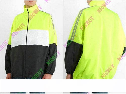 2019 diseñador de moda ropa de marca para hombre rompevientos estampado de letras patchwork malla de color dentro de zip streetwear outwear jacket