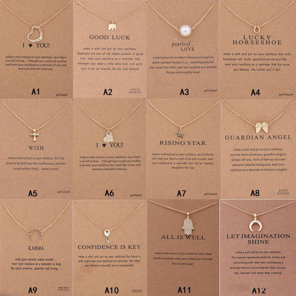 Новое прибытие Dogeared ожерелье с Подарочной картой Слон Pearl Любви Крыла Крест Ключ Знак зодиак Компас лотос Подвесок для женщин моды ювелирных изделий