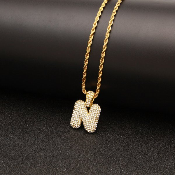Crystal Alloy Designer Necklace Fashion Women Mens Necklace Various Golden Initial Letter Necklace Fashion Cuban Link Special Offer