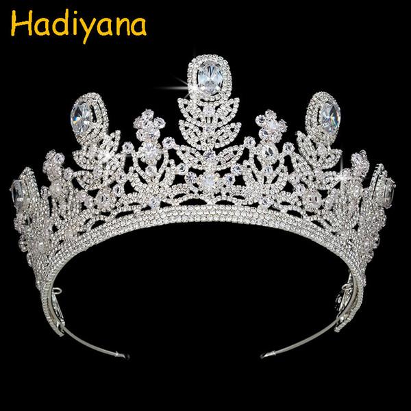En gros Haute Qualité Fine Diadèmes De Mariage De Luxe Couronne Strass Ruban Bijoux Tiara Pour Les Femmes Roi Princesse Partie Cadeau BC3971