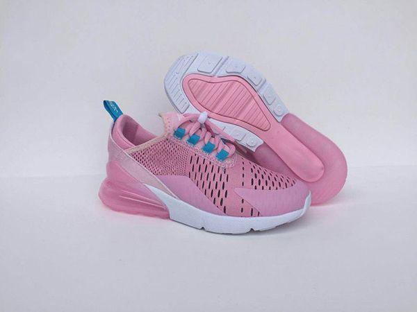 Großhandel Nike Air Max 270 Neueste Sport Leucht Herbst Frühling Modische Atmungsaktive Freizeitschuhe Für Mädchen Mesh Schuhe Jungen Marke Kinder