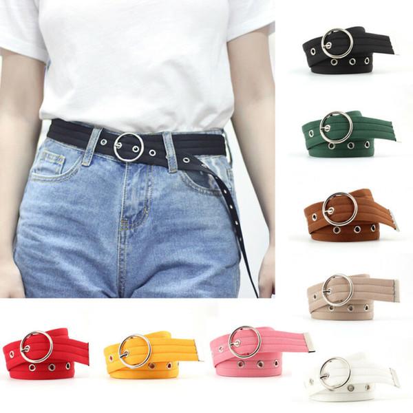 2020 nuove cinghie di tela di modo delle donne della signora Girl Cintura sottile sottile Nylon Canvas Migliorare il cinturino