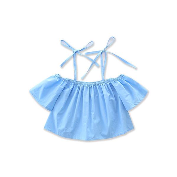 Novas Meninas Conjuntos de Roupas Infantis Verão Suspender Tops Saias De Limão 2 Pcs Definir Algodão Menina Crianças Vestuário Boutique Enfant Roupas Outfits