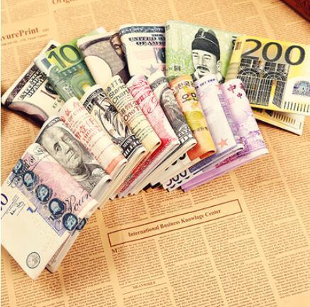 Acheter Chic Unisexe Hommes Femmes Notes De Devise Motif Livre Dollar Euro Porte Monnaie Portefeuilles Mode Pinces A Billets De 4 23 Du Wisdom999