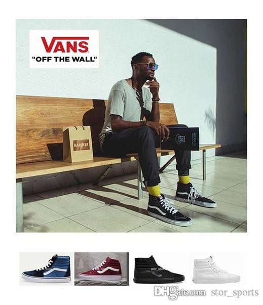 2020 Vans Old Skool High Top SK8 Hi Men Womens Canvas Casual Shoes, Classical White Black Skateboard Sport Sneakers Size36 44 Scholl Shoes Leopard