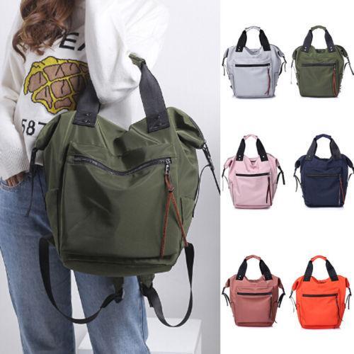 top popular Fashion Womens Girls Canvas School Backpack Shoulder Bag Travel Rucksack 2021