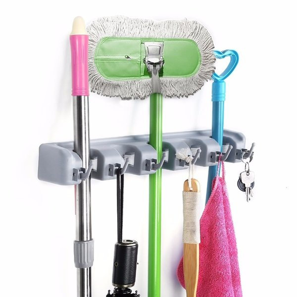 Kitchen Organizer Wall Mounted Kitchen Shelf Storage Holder for Mop Brush Broom Mops Hanger Organizer Too SH190920
