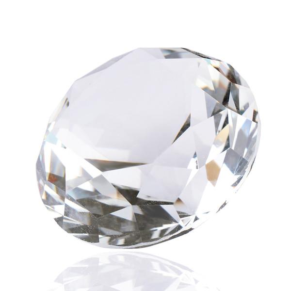 Sıcak Satış 1 adet 40mm Yapay Elmas Temizle Kristal Kesim Cam Paperweight Düğün Takı Ev Dekorasyon El Sanatları bijoux sieraden