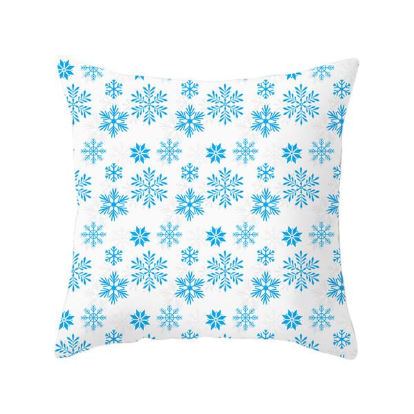 45 * 45 cm Kissenbezug Deer Tree Kissenbezug Winter Stil Weihnachten Kissenbezug Schnee Kissen Wohnkultur für Sofa Auto
