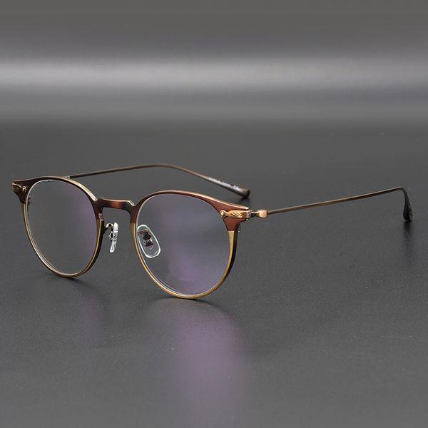 Titanium Glasses Frame Men OV1181 Retro Frame Brand Eyewear Eye Glasses Frames for Women Titanium with Box