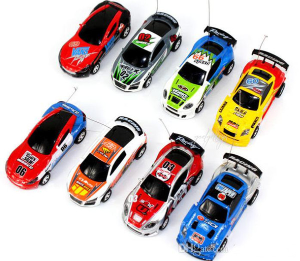 Free Epacket 8 color Mini-Racer Remote Control Car Coke Can Mini RC Radio Remote Control Micro Racing 1:64 Car 8803