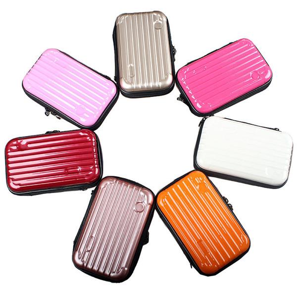 Bolso cosmético de las mujeres Tronco pequeño Bolso pequeño Forma Lavado Envoltura oblicua Span Impermeabilización al agua Color oro rosa 30jx C1