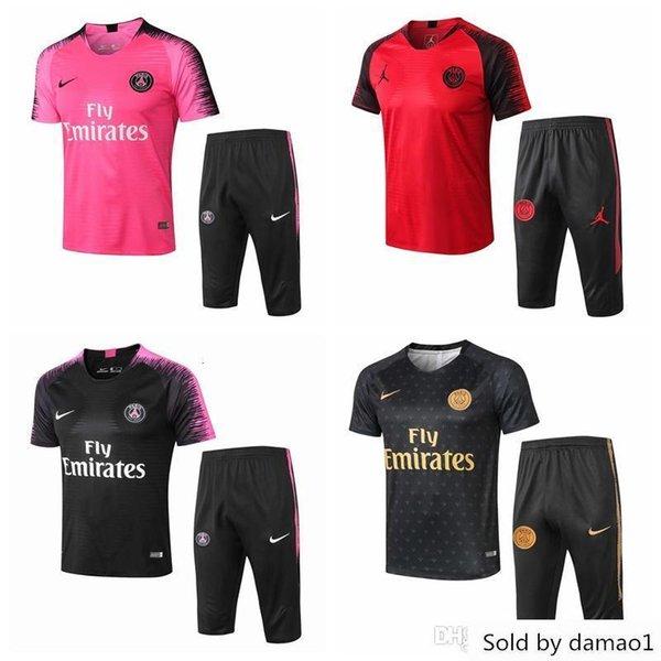 20 aJ Kurzarmhemd Hose PSG Jordam Fußballtrainingsanzug survêtement Mbappe Football-Shirts Trainingsanzug maillot