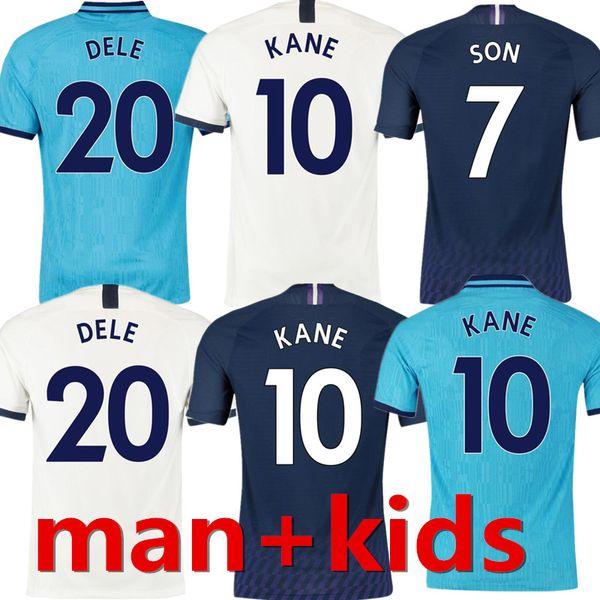 KANE Spurs Soccer Jersey SON Thailand 2019 2020 LUCAS ERIKSEN DELE SON NDOMBELE Jerseys 19 20 Football Shirts Men KIDS KIT uniform