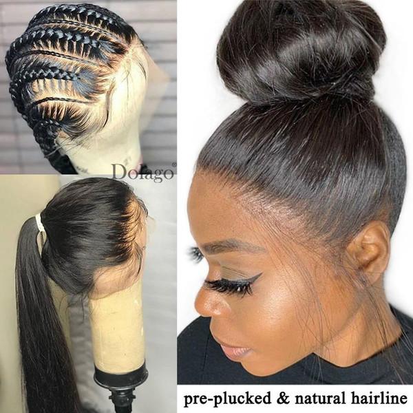 Hetero completa Lace Humano Perucas 250 Densidade HD Transparente Lace Wig Brasileira Pré arrancado com bebê Remy cabelo transporte livre