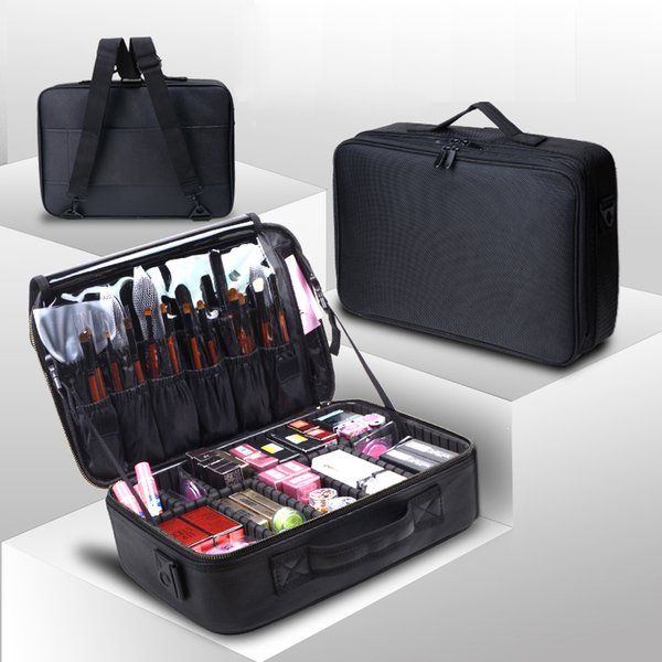 2019 new arrival Large multi-storey professional make up package bag nail pattern semi-permanent tool box cosmetic case bags