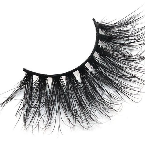 25mm 3D Nerz Wimpern Natürliche Weiche Falsche Wimpern Großes Volumen Lange Wimpern Verlängerung Für Make-Up PPA394