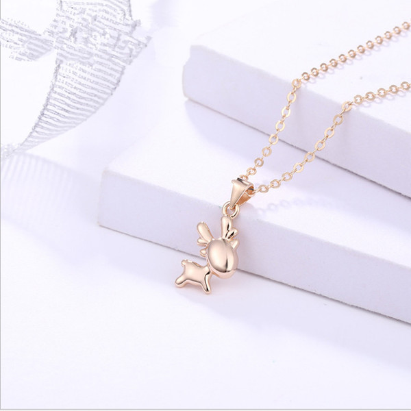 A743 champaign gold necklace