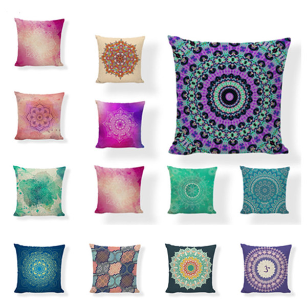 abstract geometry pillow case for sofa bed waist cushion cover home decor circular travel pillow covers t2i5385