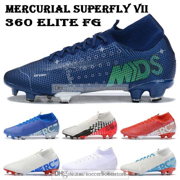 Erkek Yüksek Futbol Boots CR7 Mercurial Superfly VII Tops 360 Elite FG Futbol Ayakkabı Neymar NJR ACC Superfly 13 Açık Futbol Profilli