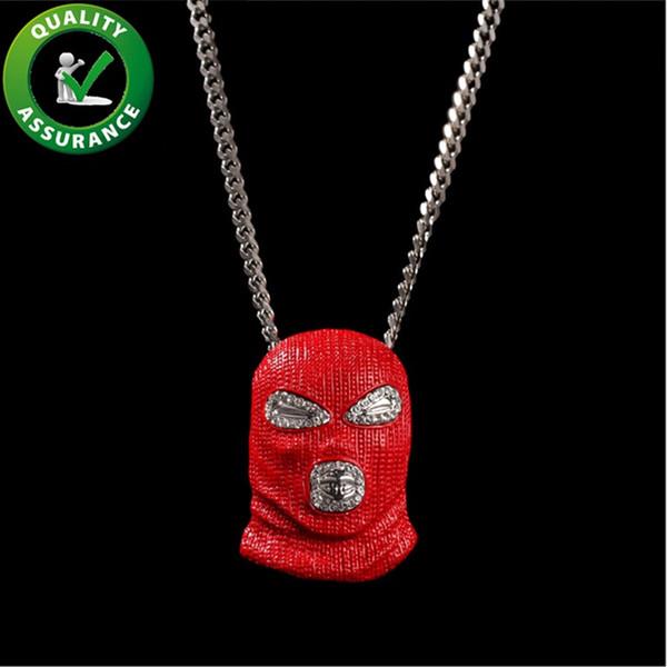 Mens Hiphop Iced Out jóias de luxo Designer Colar Mens Cadeia Pingentes Bling dos desenhos animados Rapper Hip Hop Colar menino cubano Fazer a ligação Acessórios