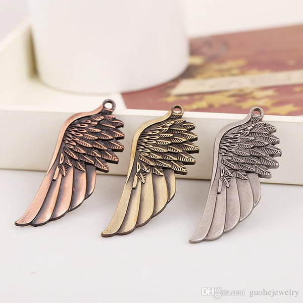 67MM * 22MM beads for jewelry making DIY jewelry necklace accessories pendants retro alloy wings pendant