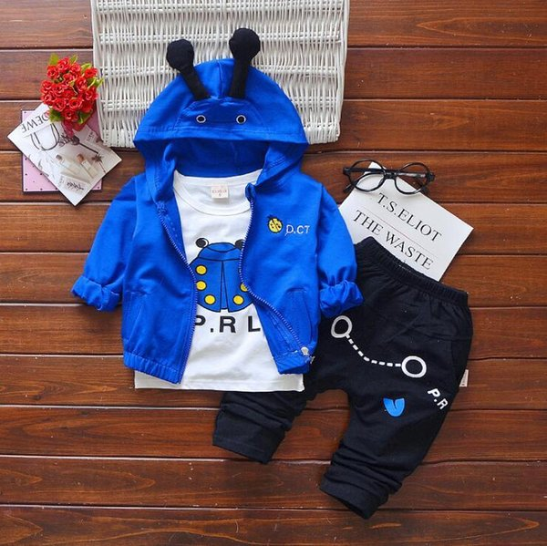 Baby Boys And Girls Suit Brand Tracksuits Kids Clothing Set Hot Sell Fashion Spring Autumn Long Sleeve Garment Cartoon three piece suit Mate