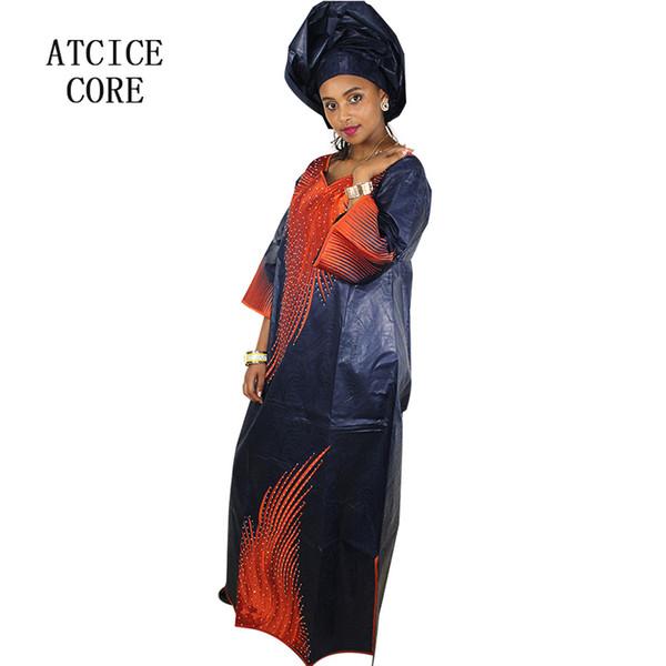 african dresses for woman bazin riche embroidery design long dress LA098